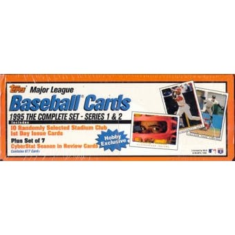 1995 Topps Baseball Hobby Factory Set (box) (White/Orange)