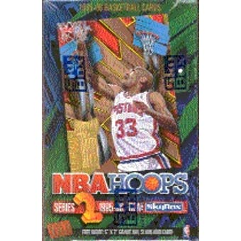 1995/96 Hoops Series 2 Basketball Hobby Box