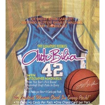 1995/96 Signature Rookies Autobilia Basketball Hobby Box