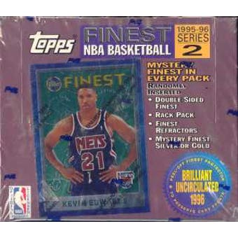 1995/96 Topps Finest Series 2 Basketball 20 Pack Box