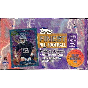 1995 Topps Finest Series 2 Football Hobby Box (Reed Buy)