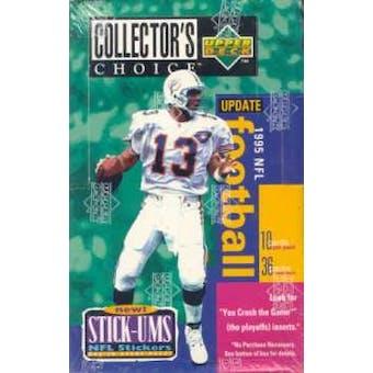 1995 Upper Deck Collector's Choice Update Football Hobby Box