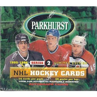 1995/96 Parkhurst Series 2 Hockey Hobby Box