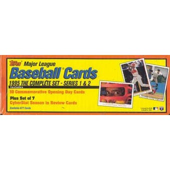 1995 Topps Baseball Retail Factory Set (box) (Yellow/Orange)