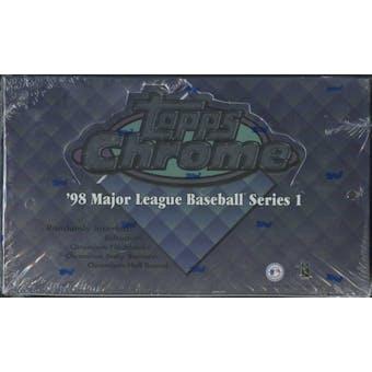 1998 Topps Chrome Series 1 Baseball 24-Pack Box