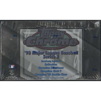 1998 Topps Chrome Series 2 Baseball 24-Pack Box