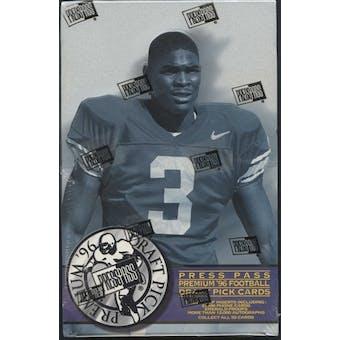 1996 Press Pass Draft Pick Premium Football Hobby Box