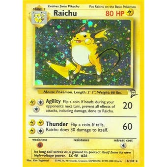 Pokemon Base Set 2 Single Raichu 16/130