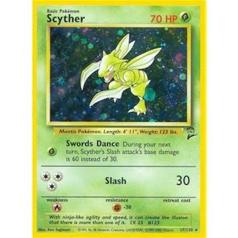 Pokemon Base Set 2 Single Scyther 17/130