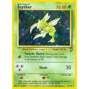 Pokemon Base Set 2 Single Scyther 17/130