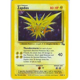 Pokemon Fossil Single Zapdos 15/62
