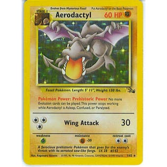 Pokemon Fossil Single Aerodactyl 1/62 - NEAR MINT (NM)