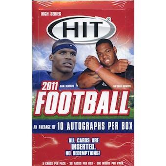 2011 Sage Hit High Series Football Hobby Box