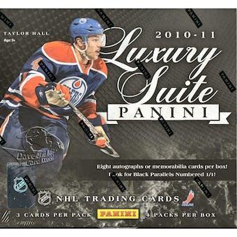 2010/11 Panini Luxury Suite Hockey Hobby Box