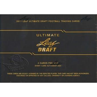 2011 Leaf Ultimate Draft Football Hobby Box