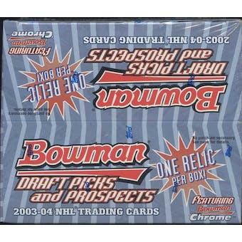 2003/04 Bowman Draft Picks & Prospects Hockey Retail Box