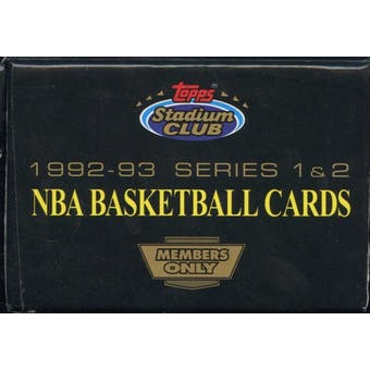 1992/93 Topps Stadium Club Members Only Basketball Factory Set