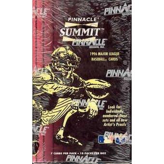 1996 Pinnacle Summit Baseball Hobby Box