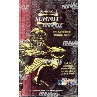 1996 Pinnacle Summit Baseball Hobby Box