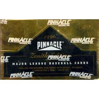 1996 Pinnacle Zenith Baseball Hobby Box