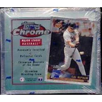 1996 Topps Chrome Baseball 20 Pack Box
