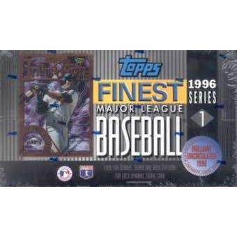 1996 Topps Finest Series 1 Baseball Hobby Box
