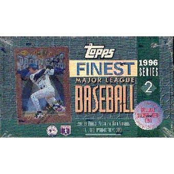 1996 Topps Finest Series 2 Baseball Hobby Box