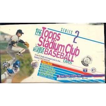 1996 Topps Stadium Club Series 2 Baseball Jumbo Box
