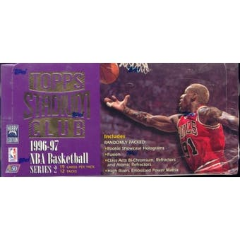 1996/97 Topps Stadium Club Series 2 Basketball Jumbo Box