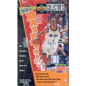1996/97 Upper Deck Collector's Choice Series 2 Basketball Hobby Box