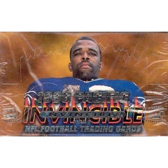 1996 Pacific Invincible Football Hobby Box