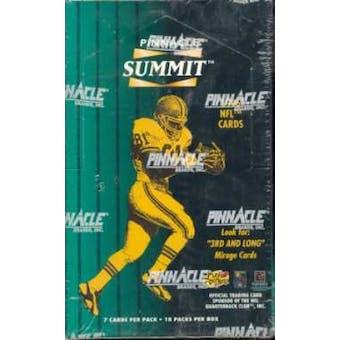 1996 Pinnacle Summit Football Hobby Box