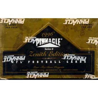 1996 Pinnacle Zenith Football Hobby Box