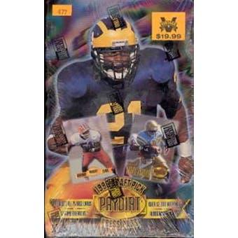 1996 Press Pass Draft Pick Pay Dirt Football Hobby Box