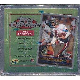 1996 Topps Chrome Football 20 Pack Box