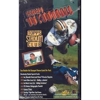 1996 Topps Stadium Club Series 1 Football Hobby Box