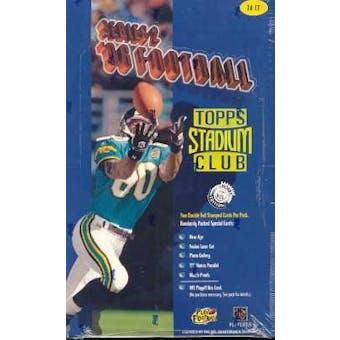1996 Topps Stadium Club Series 2 Football Hobby Box