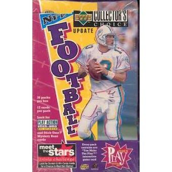 1996 Upper Deck Collector's Choice Update Football Hobby Box