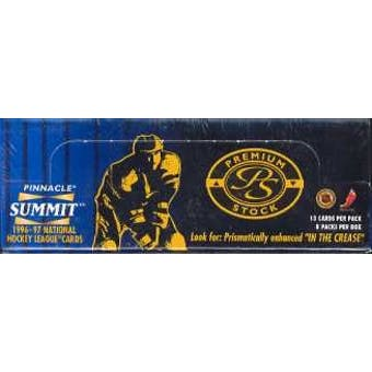 1996/97 Pinnacle Summit Premium Stock Hockey Hobby Box