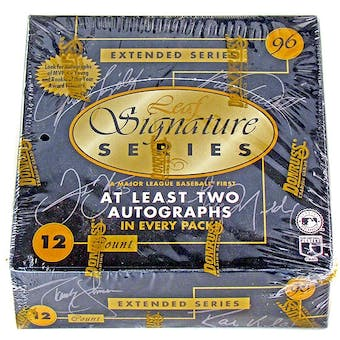 1996 Leaf Signature Extended Baseball Hobby Box