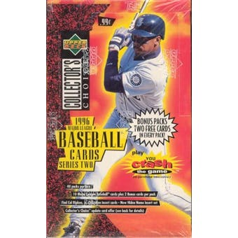 1996 Upper Deck Collector's Choice Series 2 Baseball Prepriced Box