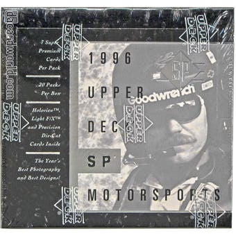 1996 Upper Deck SP Racing Hobby Box