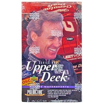 1996 Upper Deck Series 1 Racing Hobby Box