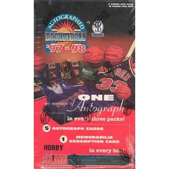 1997/98 Scoreboard Autographed Basketball Box
