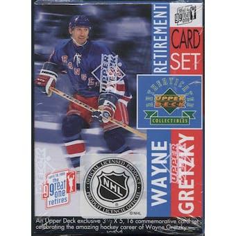 1999/00 Upper Deck Wayne Gretzky Retirement Hockey Factory Set