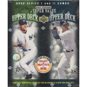 2006 Upper Deck Baseball Series 1 & 2 Combo Fat Packs Box