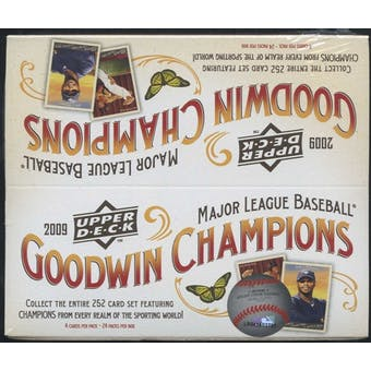 2009 Upper Deck Goodwin Champions Baseball Retail Box