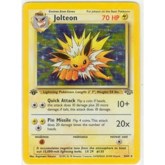 Pokemon Jungle Single 1st Edition Jolteon 4/64 - MODERATE PLAY (MP)