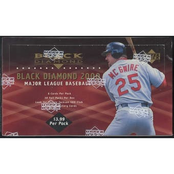 2000 Upper Deck Black Diamond Baseball 30-Pack Box