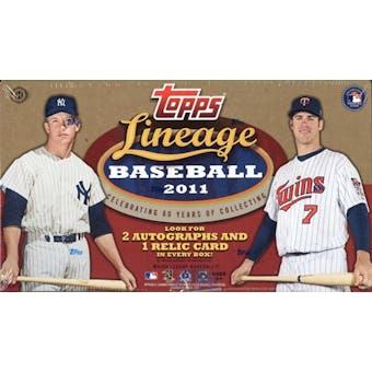 2011 Topps Lineage Baseball Hobby Box